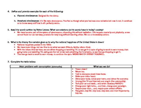 Story Of Stuff Worksheet Answers by Quot Story Of Stuff Quot Worksheet And Answer Key By Ms G S