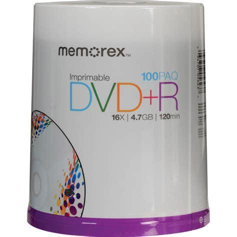 Memorex 4 7gb 16x Dvd R memorex dvd r 4 7gb 16x inkjet printable discs 05623 b h photo