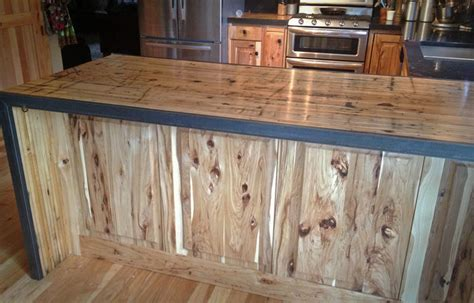 Hickory Wood Countertops by Kitchen Reface Hickory Boxcar Countertops Rustic