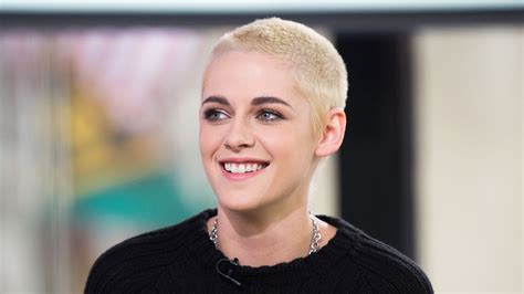 Shaves Now The Carpet Really Does Match The Drapes by Kristen Stewart Reveals Why She It S