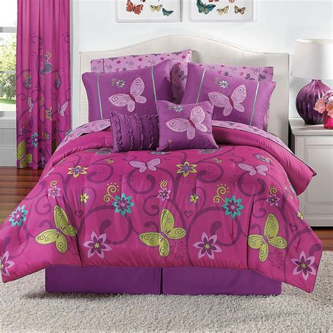 Full Bedroom Sets For Girls Pics Photos Butterfly Kisses Girls Twin Bedding Set