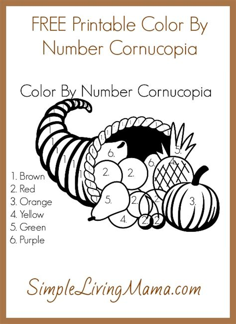 color by number cornucopia simple living mama
