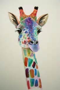 colorful giraffe painting colorful giraffe painting paint