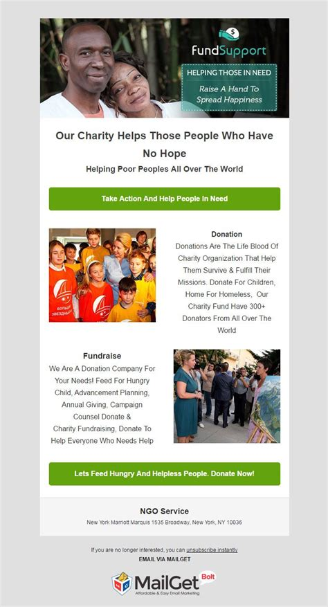 Best Charity Email Templates For Ngos Welfare Societies Formget Donor Newsletter Template