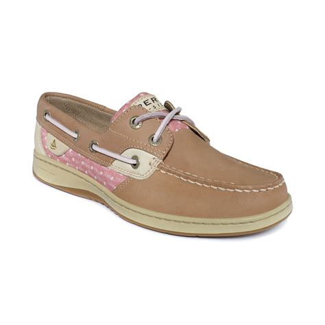 sperry s boots sperry top sider womens bluefish boat shoes in brown lyst