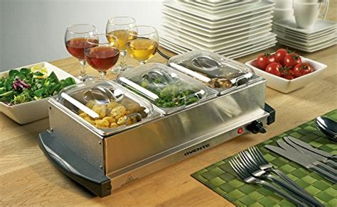 ovente mini 3 tray buffet server and food warmer with