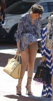 khloe kardashian is a victim of mother nature wind blows up her skirt