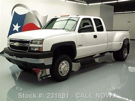 how petrol cars work 2006 chevrolet silverado 3500 free book repair manuals purchase used 2006 chevy silverado 3500 ext cab work truck dually 46k texas direct auto in