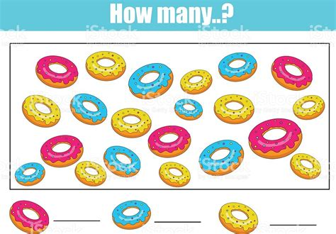 How Many Is Many by Counting Educational Children Activity How Many