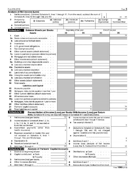 Form Of L by How To Fill Out An Llc 1065 Irs Tax Form