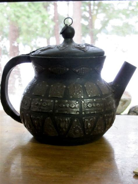 afghan vintage tea kettle decorative piece