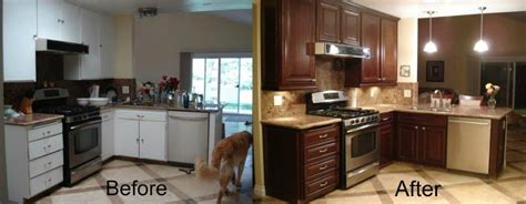 refaced cabinets before and after how to reface your kitchen cabinets