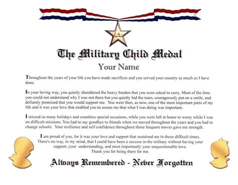 army conduct medal certificate template child medal