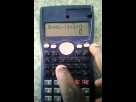 casio fx ms calculator tutorial lesson  solve