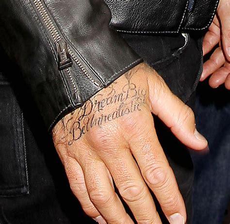 david beckham new tattoo beckham style david beckham shows a new