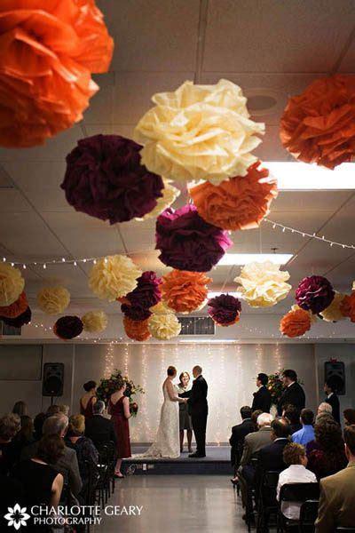 cream, burgundy & orange fall wedding, Paper tissue