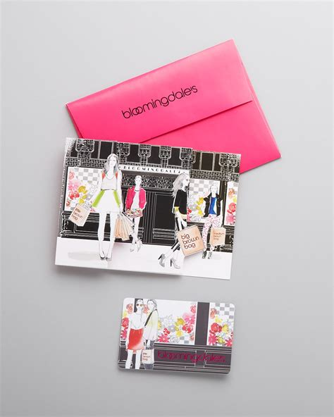 Bloomingdale Gift Card - bloomingdale s shoppers gift card with envelope 300 bloomingdale s