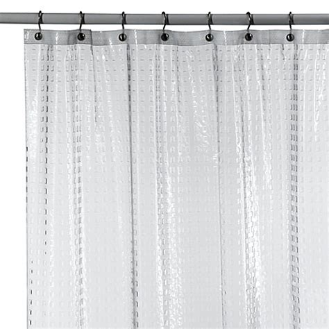 clear vinyl shower curtains metro clear vinyl shower curtain bed bath beyond