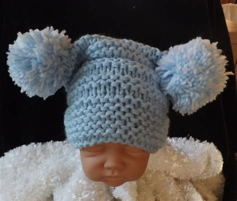 knit pom pom hat pattern knitting pattern for baby pom pom hat easy knit size newborn