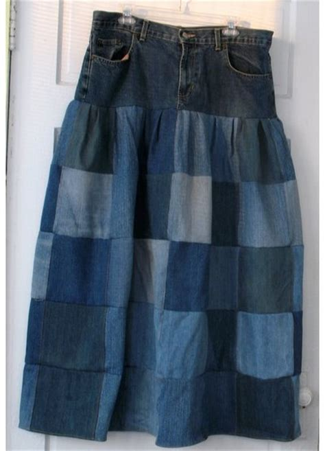 denim patchwork skirt sewing projects burdastylecom