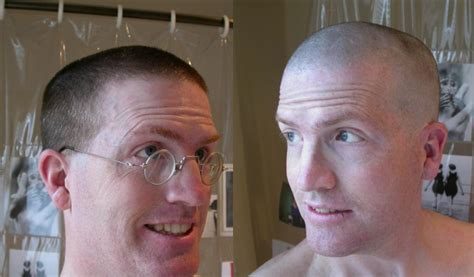 head shave before and after mayday 2003