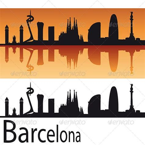 watercolor tattoo barcelona barcelona skyline silhouette cameo crafts tutorials