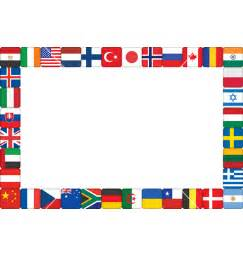 flags of the world page border world border clipart