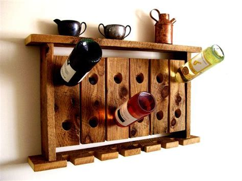 Wine Glass Wall Shelf by Reclaimed Wood Wine Rack Wine Glass Holder Wall Shelf