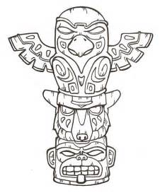 Totem Pole Coloring Page Pages For Kids sketch template