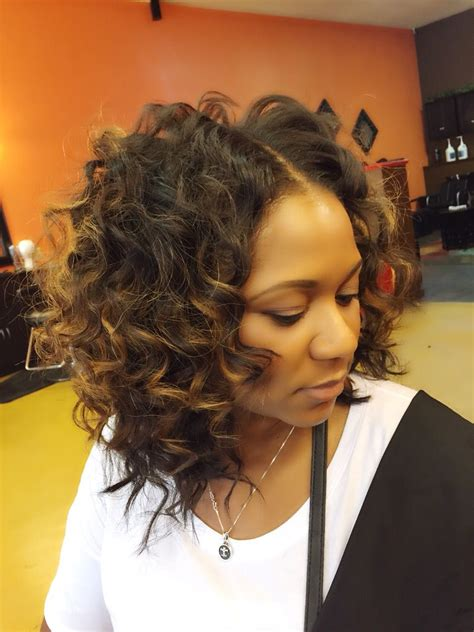 full sew in with indian loose curly hair wand curled