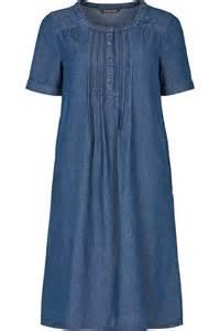 bonmarche womens blue denim pintuck dress up to size 24