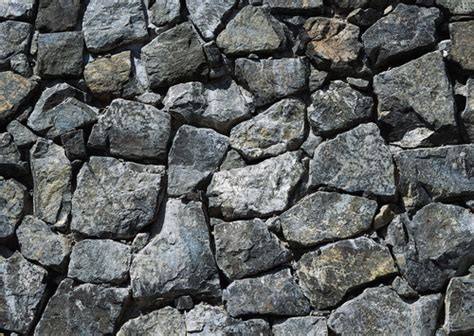 natural cyan colored rubble stone wall texture image
