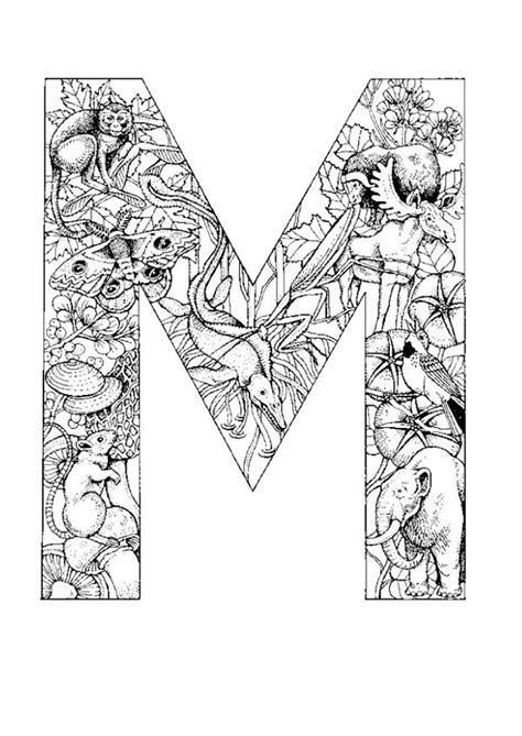 Coloring Pages Large Lettersll