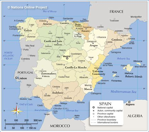map of spain administrative map of spain nations project