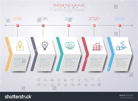 How To Make A Timeline On Paper - business concept timeline infograph template realistic