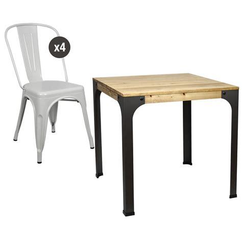 mesa y sillas blancas mesa de comedor bar bristol y 4 sillas tolix blancas