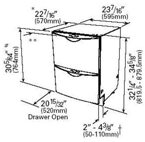 us standard sizes for dishwashers dishwasher dimensions bosch dishwasher