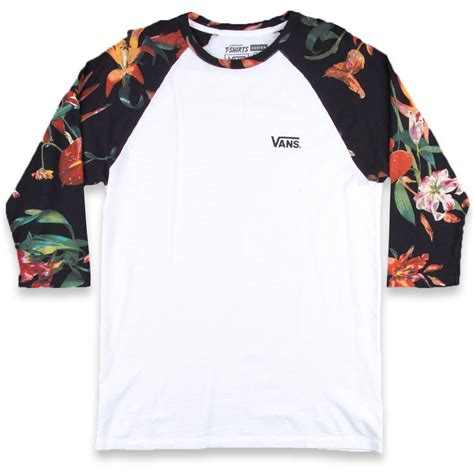 T Shirt Raglan Vans vans bloom raglan t shirt white bloom