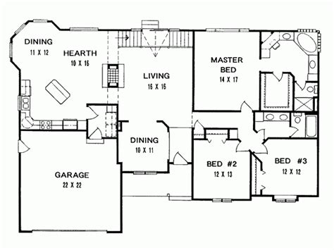 3 Bedroom Ranch House Floor Plans by House Plans Ranch Home Design Ideas