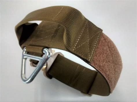 tactical collar tactical collar with handle coyote brown 50mm 2inch velcro area