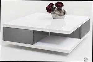 table basse blanche avec rangement table basse design