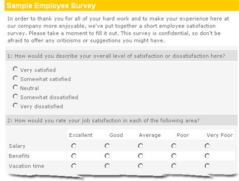 employee job satisfaction survey