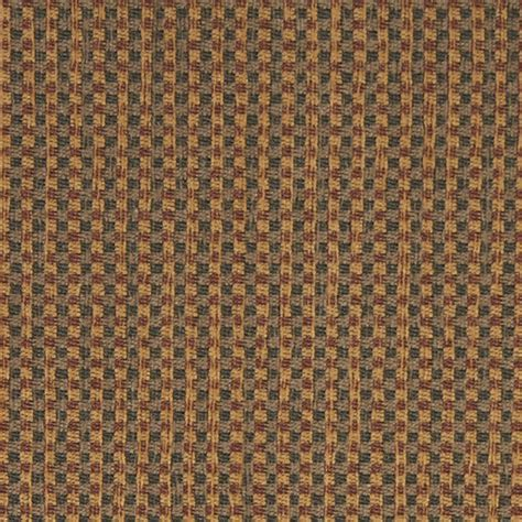 Burgundy Green And Gold Check Southwest Style Upholstery