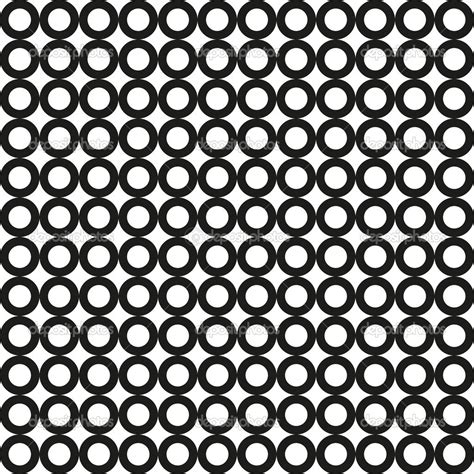circle pattern in vector seamless black circle pattern vector stock vector