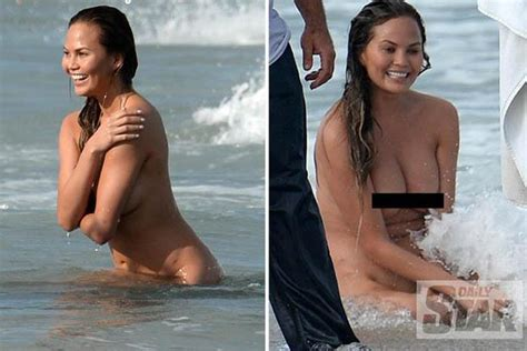 full frontal thin women when celebs go skinny dipping chrissyteigen ditches