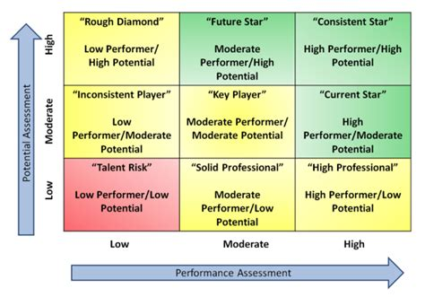 Development At The Top Use The 9 Box To Develop Talent In Succession Planning Talent Review Template