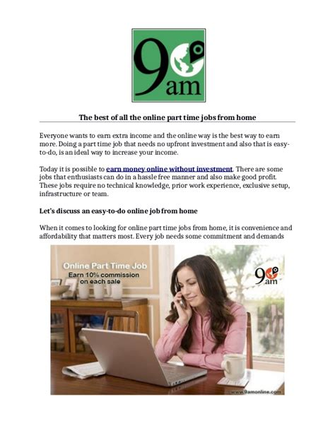 online part time jobs from home without investment online part time jobs from home earn money online without