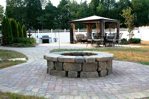 paver patio fire pit projects kingdom landscapes