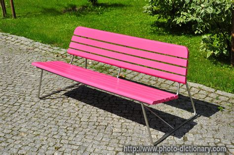 bench definition pink bench photo picture definition at photo dictionary