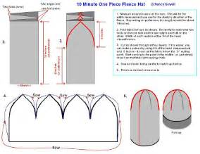 fleece hat template home and garden tips and recipes pattern for one